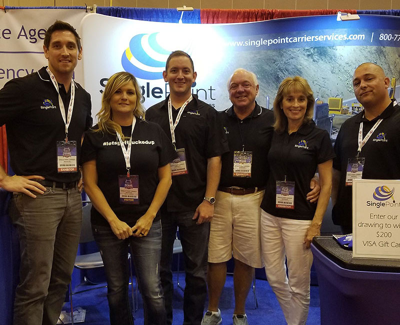 Single Point Carrier Services Team At The Texas Trucking Show