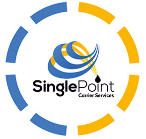 Single Point Carrier Services Logo Inside A Circle
